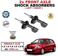 FRONT LEFT RIGHT SHOCK ABSORBERS for RENAULT CLIO 1.2 1.4 1.6 1.5 1.9 dCi 1998->