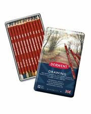 Derwent Dessin 12 TIN SET OF Assorted Couleur Professionnelle Crayons