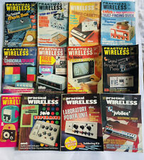 More details for practical wireless vintage magazines 1976-1977 electronics collectible bundle