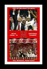 MARYLAND TERPS 2002 FINAL 4 CHAMPIONS MATTED TROPHY POST GAME CELEBRATION PIC 2