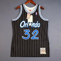 Authentic Shaquille O'Neal Mitchell Ness 94 95 Magic Jersey Size 44 48 52 Mens