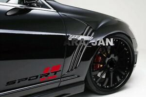 SPORT Decal Sticker car racing stripe emblem logo motorsport R performance PAIR
