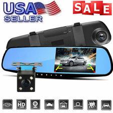 1080P HD Dual Lens Car DVR LCD Mirror Camera Monitor Dash Cam Reverses Rear View