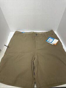 NWT COLUMBIA Modern Classic Men's 32 WX 8 L Brown Shorts Brand New Omni-shade
