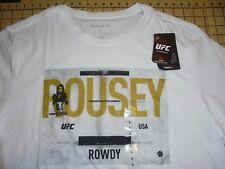 MENS LARGE WHITE RONDA ROUSEY UFC REEBOK T-SHIRT - NWT