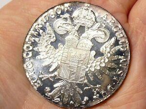 MIRROR FINISH Re-strike 1780 Austria Maria Theresa 1 Thaler Silver Coin 28g #3