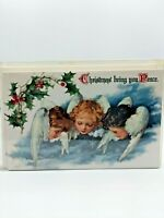 Vintage Merck Family's Old World Christmas Boxed 10 Cards Angels Cherubs #8972