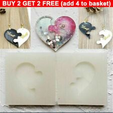 Silicone Molds Puzzle Heart Resin Mould Dropping Glue Mold Keychain Mold DIY