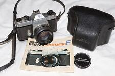 PENTAX Spotmatic F + Smc Takumar 55 mm f1.8 Lens + Case & Manuel