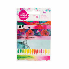 "NEW Jane Davenport Paint Phrase Watercolor Effect Washi Book  3"" x 4"" (5 Sheets)"