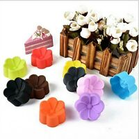 10PC Flower DIY Cake Mold Soap Silicone Mould Candy Chocolate Cake Kitchen