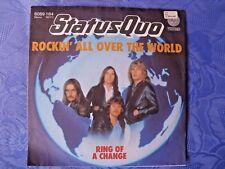"""STATUS QUO (7"""") ROCKIN´ ALL OVER THE WORLD [GERMAN 1ST VERTIGO 45 SINGLE P/S] EX"""