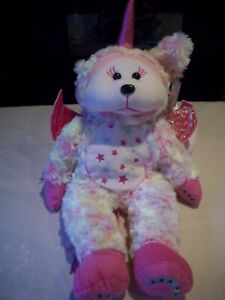 BEANIE CUDDLE KIDS DARIA THE PINK UNICORN BEAR