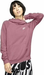 Nike Sportswear Essential Funnel Neck Pullover Desert Berry Hoodie Sweatshirt S