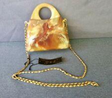 Vintage Another Y & S Design Multi Color Marbled Lucite Clutch/Shoulderbag Purse