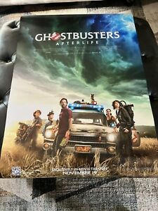 Ghostbusters Afterlife Theatre Poster 27x40 D/S NEAR MINT Never Used SEE PHOTO