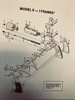 Exploded View Of Colt Python Model E- & I Frame Guns.Manuals