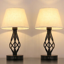 2 Packs Traditional  Beside Lamps Table Lights 2 USB...