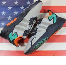 Adidas Nite Jogger Boost Running Shoes Core-Black/Grey/Solar [EE5569] Mens sz 11