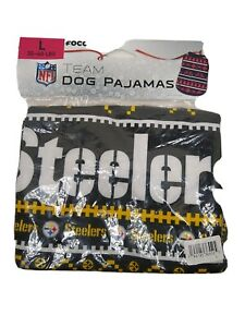 Pittsburgh Steelers Dog Pajamas Large Foco  New