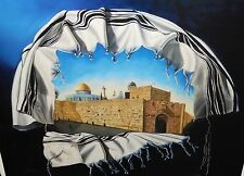 """EVA ROFFE """"JERUSALEM WRAPPED IN A TALIS"""" LIMITED EDITION SIGNED LITHOGRAPH COA"""