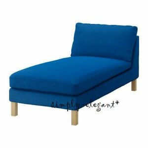 IKEA KARLSTAD Free Standing Chaise Cover Korndal Medium Blue Longue Slipcover