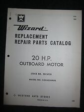 1968 Wizard Outboard Parts Catalog Manual 20 HP COC6520A86