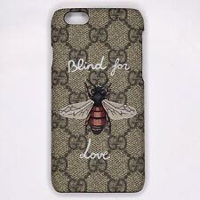 Gucci Beige Supreme iPhone Case 6 7 8 Blind For Love Bee GG Logo Canvas Cover