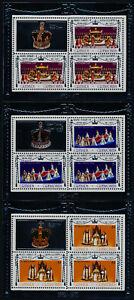 Grenada Grenadines 237-9 Sheets Perf 11 MNH Queen Elizabeth Royal Visit o/p