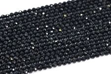 2-3MM Genuine Natural Black Spinel Beads Grade AAA Faceted Round Loose Beads 15
