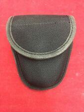 GALLS Black Ballistic Nylon Handcuff Case Belt Loop Snap Button