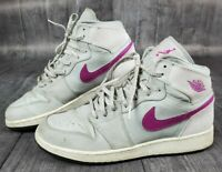 Nike Air Jordan 1 Retro Size 9Y 332148 018 Grey Fuchsia purple shoes sneakers