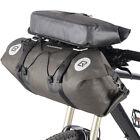 RockBros Waterproof Bicycle Roll Bag&Handlebar Bag Large Capacity Black Gold
