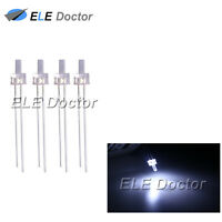 100pcs 2mm Water Clear White Light Flat Top Transparent LED Diodes 18000Mcd