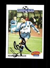 Henning Bürger 1 FC Saarbrücken Panini Card 1992-93 Original Signiert+ A 158090