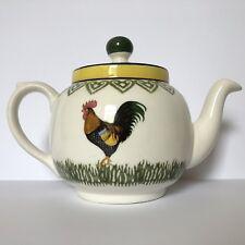 Price Kensington Rooster Farm Small Teapot Ceramic White Green Yellow