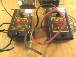 """AMERICAN FLYER "" LOTT OF 4 DIRECTION CONTROLLER. MADE 1946  - 1953 NEED WIRE"