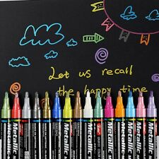 3mm Colored Metallic Paint Markers Birthday Gift Card Album Colorful Marker Tool