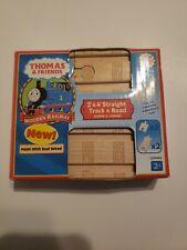 "Thomas Wooden Railway - 2"" & 4"" Straight Track & Road"