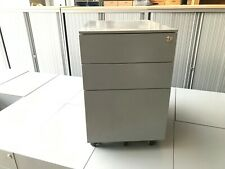 GREY STEEL OFFICE UNDER DESK PEDESTAL DRAWERS WITH FILING DRAWER, CABINET
