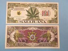 MARIJUANA $1,000,000 One Million Dollar Bill, USA >< Legalize Ganja Cannabis Pot