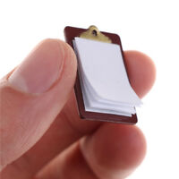 Mini Dollhouse Miniature Accessories Alloy Clipboard with Real Paper Attached  3