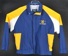 Vintage Navy Football Embroidered Windbreaker Jacket Mens XL Colorblock Military