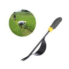 Manual Weeder Fork Metal Hand Garden Wood Handle Digging Puller Weeding Tool New