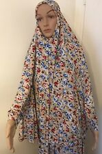 New Women Islamic Muslim Two Piece Prayer Garment Clothing طقم صلاه نسائي