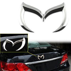 Silver Evil M Logo Emblem Batman Rear Badge Decal For Mazda 2 3 5 6 CX Miata