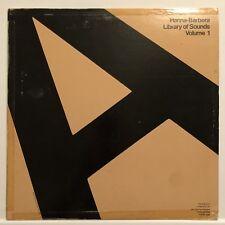 HANNA BARBERA Library Of Sounds Volume 1 LP MEGA RARE LIBRARY RECORD
