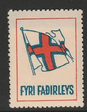Faroe Islands - 1941 Flag / Fyri Fadirleys - 100% Mint