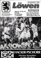 10.02.1993 TSV 1860 München - 1. FC Nürnberg
