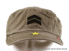 A.KURTZ Military Fritz Legion Cap Hat Khaki/Brown AK002 100% Cotton sz S